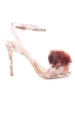 Ted baker Riemchen-Sandaletten wollweiß-braun abstraktes Muster Elegant