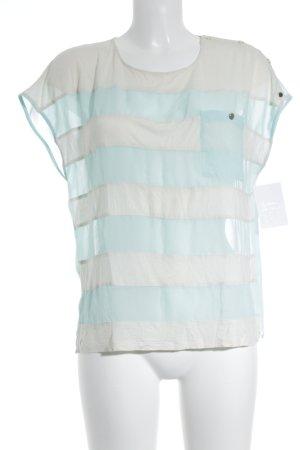 Ted baker Ringelshirt wollweiß-babyblau Streifenmuster Casual-Look
