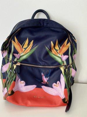 Ted baker School Backpack dark blue-salmon