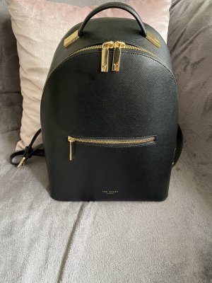Ted baker School Backpack black-gold-colored leather