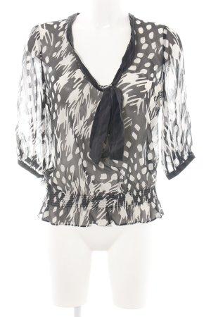 Ted baker Schlupf-Bluse schwarz-weiß abstraktes Muster Elegant