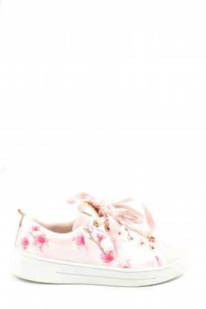 Ted baker Schnürsneaker wollweiß-pink Allover-Druck Casual-Look