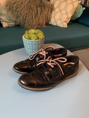 Ted baker Wingtip Shoes black-rose-gold-coloured leather
