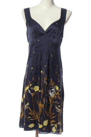 Ted baker Vestido de Verano azul-amarillo pálido elegante