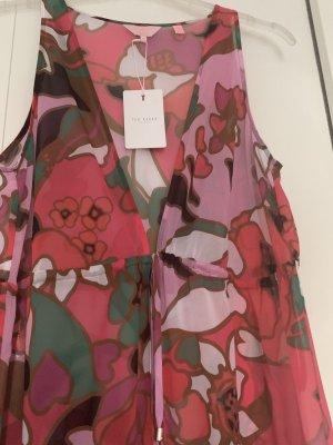 Ted Baker Strandkleider Maxi Kleid Pink Gr M Neu NP 130€