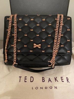 Ted baker Crossbody bag black-rose-gold-coloured leather
