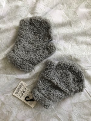Fingerless Gloves silver-colored-cream