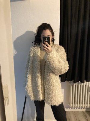 Teddy coat, beige color