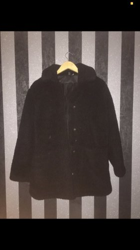H&M Fleece Coats black