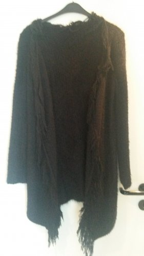 Knitted Coat black cotton