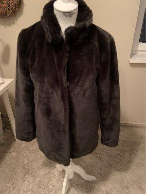 Oakwood Fake Fur Jacket taupe-anthracite