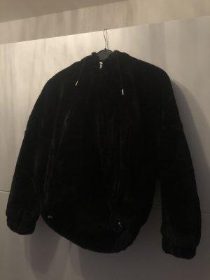 Clockhouse Futrzana kurtka czarny