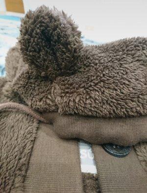 Sublevel Fake Fur Jacket brown-dark brown
