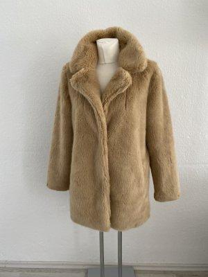 Teddy Jacke Coat braun M Only Plüsch Pelz