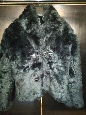 Giacca in eco pelliccia nero Pelliccia ecologica