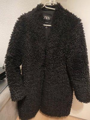 Zara Cappotto in eco pelliccia nero