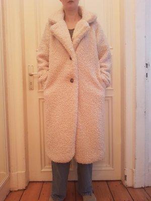 Abrigo ancho blanco puro
