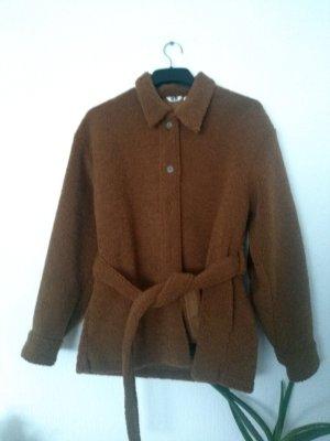 Uniqlo Cappotto in eco pelliccia marrone-cognac