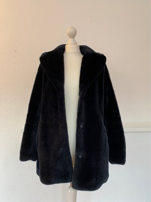 H&M Oversized Coat dark blue