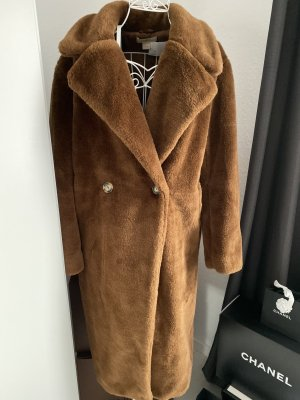 H&M Manteau en fausse fourrure bronze-brun laine