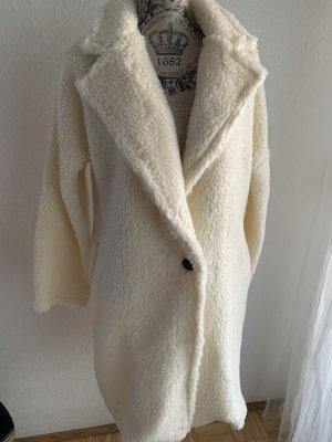 Manteau en laine blanc-blanc cassé