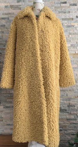 STAND STUDIO Cappotto in eco pelliccia giallo-oro