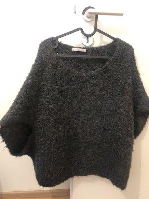 Zara Knit Cárdigan de punto fino gris antracita