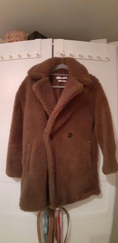 Mango Winter Jacket cognac-coloured