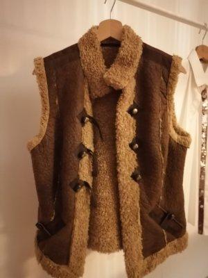 Sportalm Kitzbühl Fake Fur Vest brown-dark brown