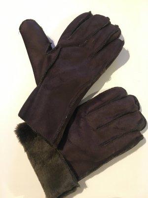 Gevoerde handschoenen donkerbruin