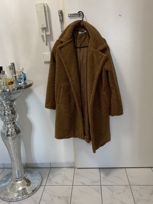 Cappotto in pile marrone