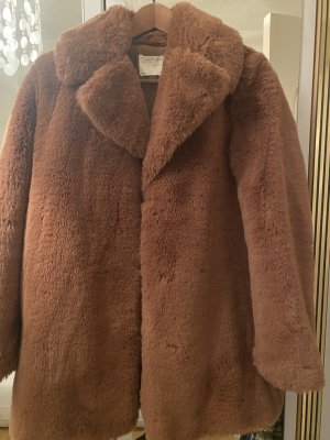Zara Pelt Jacket brown-cognac-coloured