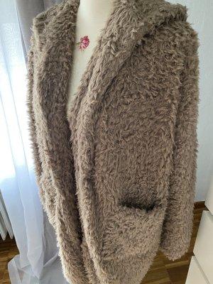 Amisu Futrzana kurtka szaro-brązowy