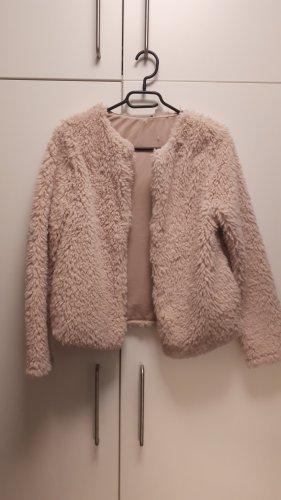 H&M Smanicato di pelliccia rosa pallido