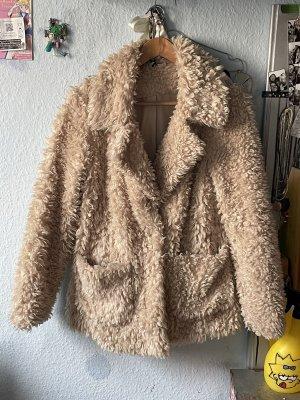 H&M Giacca in eco pelliccia crema-beige chiaro