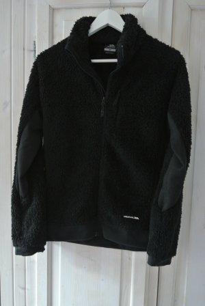 T-Bags Futrzana kurtka czarny Bawełna