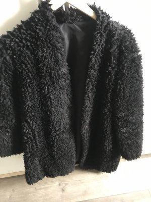 Teddyfell Mantel schwarz Gr M