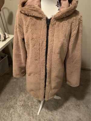 Oakwood Fake Fur Jacket beige-camel
