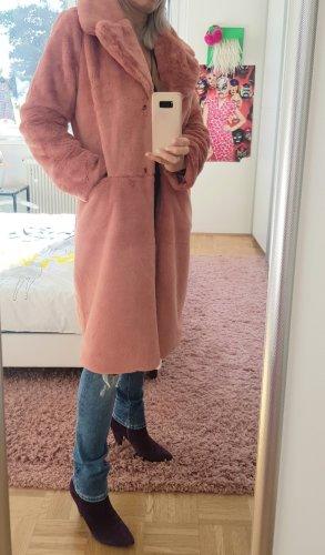 Ashley Brooke Fake Fur Coat rose-gold-coloured-nude