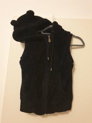 Chaleco con capucha negro