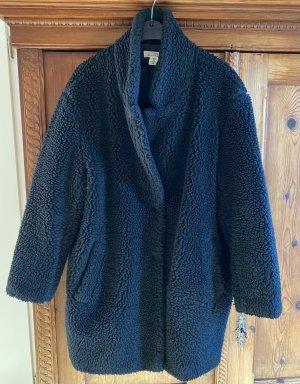 H&M Fake Fur Coat black