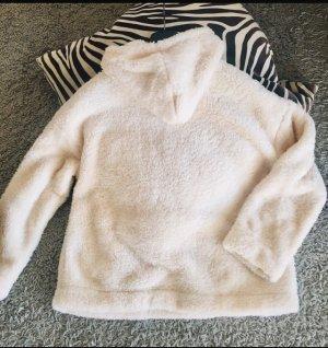 H&M Polarowy sweter w kolorze białej wełny Poliester