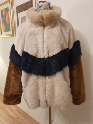 trf_outerwear Fake Fur Jacket multicolored