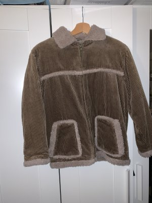 Veste en fourrure multicolore coton