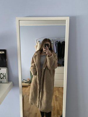 C&A Clockhouse Manteau imitation fourrure chameau