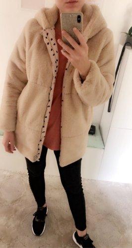 Zara Veste en fausse fourrure multicolore