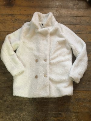 Bohoo Giacca in eco pelliccia bianco-bianco sporco
