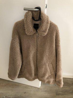 New Look Fur Jacket beige-cream