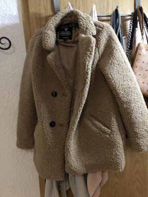 C&A Fake Fur Jacket light brown-camel