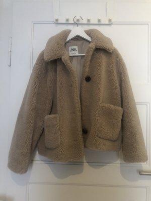 Zara Fleece Jackets brown